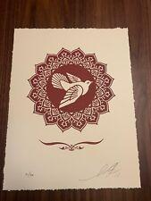 Shepard Fairey Obey Giant Peace Dove Letterpress Art print Signed Free Stickers