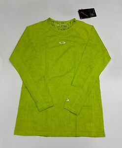 Oakley Technicaru under Crew Long Sleeve Base Layer Light Green XL