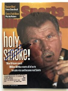 Mike Ditka Signed Sports Illustrated 7/20/98 Issue Chicago Bears HOF NFL
