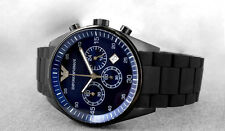 Brand New Emporio Armani Blue Dial Men's silicone strap watch - 2 years warranty