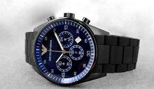 Brand New Emporio Armani Blue Dial Men's silicone strap watch AR5889