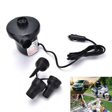 12V Car Auto DC Electric Air Pump Inflator +3 Nozzles AirBed Mattress Boat!  HK
