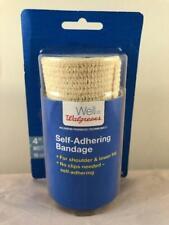 "Walgreens Self-Adhering Bandage 4""width 10cm Shoulder & Lower Leg No Clip Needed"