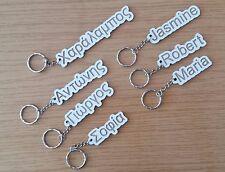 Personalize cut custom name keyring wood MDF Key chain engraved Any Language