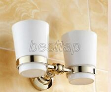Gold Color Brass Wall Mounted Bathroom Accessories Toothbrush Holder sba138