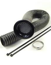 """Revotec 3.5"""" / 89mm x 1 Metre Neoprene Cold Air Feed Intake Kit Black Trumpet"""