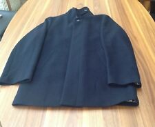 Marks & Spencer Mens Collezione Luxury Wool Mix Coat - Size S Navy Blue VG COND