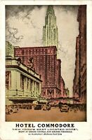 Vintage Postcard - Hotel Commodore Located At Grand Central New York NY #3177