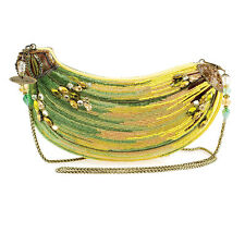 Mary Frances Top Banana Embellished Purse Summer17 Beaded Bag Yellow Handbag NEW
