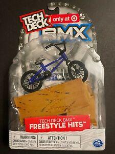 Tech Deck BMX Freestyle Hits Mini Blue Cult Finger Bike New