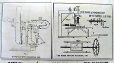 1873 NY Daily Graphic newspaper w engraving of INVENTION of the SEWING MACHINE