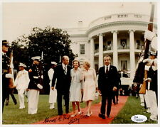 Gerald+Betty Ford Hand Signed 8x10 Color Photo Rare Pose With Nixon'S Jsa