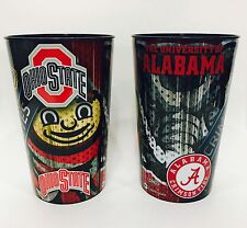 2 SUGAR BOWL 2015 GAME SOUVENIR CUPS ALABAMA OHIO STATE BUCKEYES 2014 CHAMPIONS