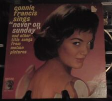 CONNIE FRANCIS Sings Never On Sunday and other title songs  Lp Mono  E3965 1961
