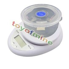 5KG/11LBS x 1g Kitchen Digital Scale Food Weighing + Storage Box Food Conta
