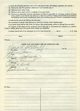 Johnnie Parsons Signed 1958 Milwaukee Release Form -1950 Indianapolis 500 Winner