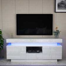 Luxury 146cm TV Unit Stand Cabinet or Sideboard High Gloss Front LED Unique