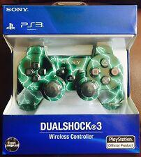 PS3 Controlador Inalámbrico Dualshock Camuflaje Verde entrega gratuita & Cable USB