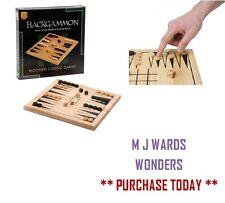 Juego de Chaquete – Placa De Madera Maciza & jugando Piezas – Clásico De Madera-Ideal
