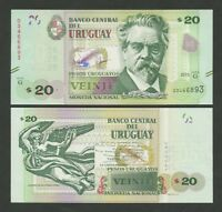 URUGUAY 20 pesos  2015  Krause new  Uncirculated  Banknotes