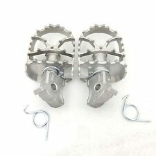 Silver Dirt Bike Racing Foot Pegs For 2008-2012 BMW F800GS 700 650