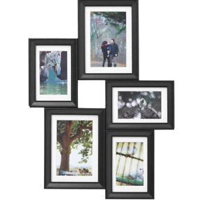 *New* KNOPPÄNG  Collage frame for 5 photos, black 603.896.01 *Brand IKEA*
