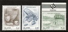ALAND MNH sg87-89 1994' età della pietra Set di 3