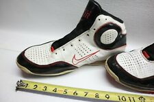 NIKE Sz 15 AIR MAX SPOT UP Sneakers 345000- BASKETBALL Mid-Top Black/White/Red
