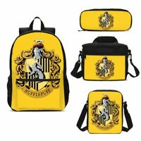 Harry Potter Hufflepuff Kids School Backpack Lunch Box Sling Bag Pencil Case Lot