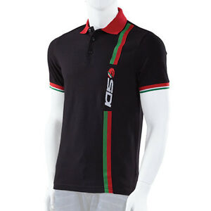 SIDI CASUALS POLO SHIRT-STRIPE BLACK TRACK PADDOCK MOTORCYCLE WEAR