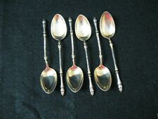SET OF 6 .800 SILVER DEMITASSE SPOONS, HOOF TIPS
