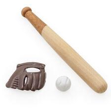 1/12 Miniatur Baseball Set- Ball Schläger Handschuh Puppenhaus Deko Zubehör
