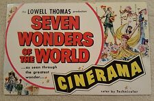 Small advertising postcard for movie Seven Wonders of the World Cinerama