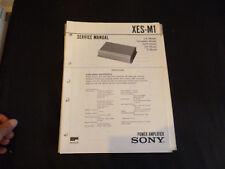 ORIGINALI service manual Sony xes-m1