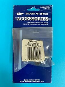 Badger 20mm Adaptor 51-017 for Model 150-175-200 with 1oz.Siphon Tube