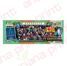 UEFA 2015 Winners FC Barcelona - Australian 100 Dollar Novelty Money