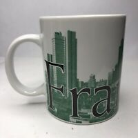"Starbucks Coffee City Mug FRANKFURT Collector Series 2002 18 Oz 4.5"" Tall"