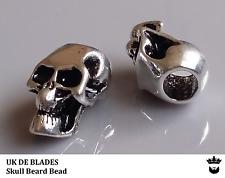 skull beard beads UK DE BLADES (oil wax gift balm Birthday beads metal A11
