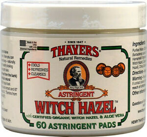 Witch Hazel Pads by Thayers, 60 piece
