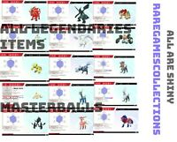 Pokemon Home Bundle New Alola Kanto Shiny Legendaries Pokemon Sword & Shield