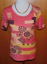 ART & COLOUR Pullover  Grafik-Blütendruck Perlenstickerei Gr.M QVC