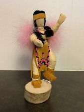 "BEAUTIFUL VINTAGE 7"" IROQUOIS NATIVE AMERICAN INDIAN CORN HUSK DOLL"