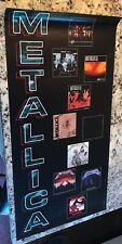 "Metallica ""10 Album Covers Next To Band'S Name"" U.S. Promo Poster 15x30"