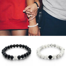 IM- Couple His & Hers Distance Bracelet Lava Bead Matching YinYang Jewelry Fashi