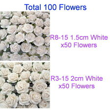 Custom Order 100 White Mulberry Paper Flowers Mixed Sizes 1.5cm & 2cm R83-15