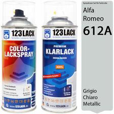 Autolack Lackspray Set Alfa Romeo 612A GRIGIO CHIARO Metallic Spray + Klarlack