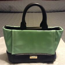 Kate Spade of New York Patent Leather Teal and Black Handbag with Bow