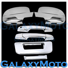 07-13 Chevy Silverado Chrome Full Mirror+2 Door Handle+Tailgate no KH Cam Cover