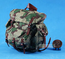 1:6 FIGURE WW2 GERMAN Mountain Division Handschar Commander Backpack Bag FH_6G