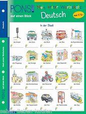 PONS Mein erster Wortschatz auf einen Blick. Deutsch. Lernhilfe Vokabeln Klett